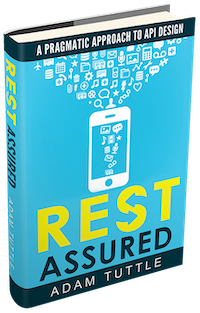 Picture of book cover art for Adam's book: REST Assured, A Pragmatic Approach to API Design